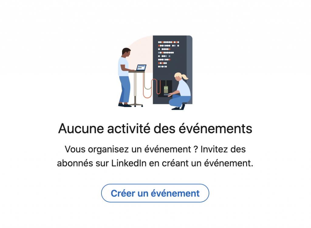 Création événement Linkedln